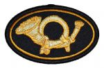 Infantry Hunting Horn Sewn Kepi Insignia Badge